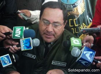 Coronel Héctor Favio Ríos, comandante saliente de la Policía regional Amazónica. | Foto La Patria