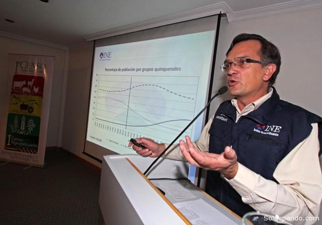 El director del INE Luis Pereira Stambuk informa sobre los avances del Censo Agropecuario en el territorio nacional.