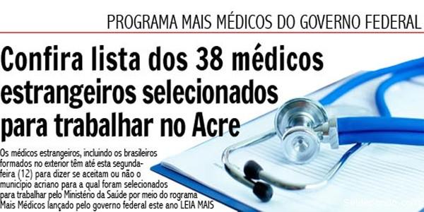 Mais Medicos do Acre