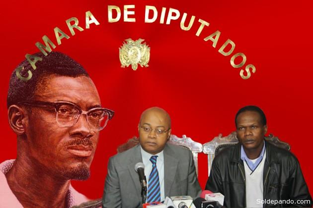 La presencia en Bolivia del Guy Lumumba, hijo del mártir de la liberación congolesa, tiende un puente entre África y el pueblo Afroboliviano representado por el diputado Jorge Medina. | Fotomontaje Sol de Pando