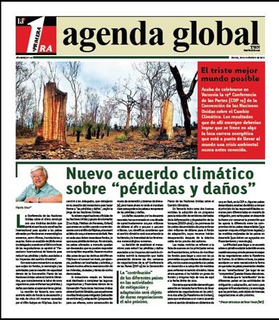 Portada de la revista semanal Agenda Global, publicada este 29 de noviembre, con un informe completo de la Conferencia de Varsovia.   BAJAR PDF HACIENDO CLIC EN LA FOTO