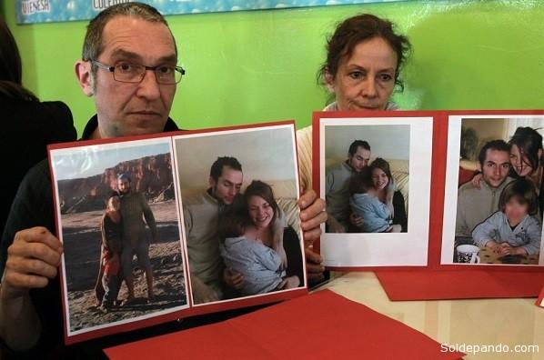 Patrick Bellanger y Cécile Blanloeil, padres de Jérémie Bellanger.