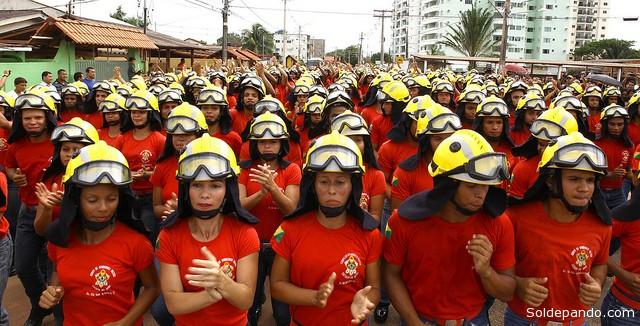 Os novos bombeiros passaram por um treinamento rigoroso no Centro Integrado de Ensino e Pesquisa em Segurança Pública e Justiça Francisco Mangabeira (Cieps). | Foto Sérgio Vale