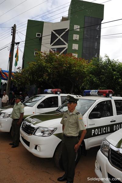 El edificio remodelado de la Fuerza Especial de Lucha Contra el Crimen en Cobija. | Foto ABI