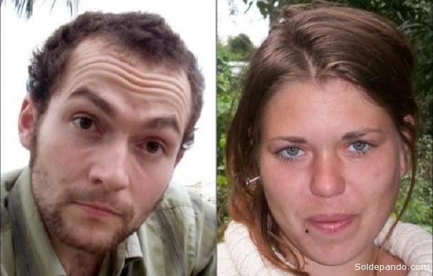 Jérémie Bellanger (25) y Fannie Blancho (23), desaparecidos en agosto de 2010.
