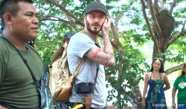 David Becham en un lugar no precisado de la Amazonia brasileña donde filmó un documental haciendo una expedición para la BBC. | Foto BBC