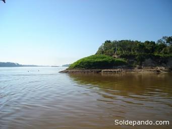 La confluencia de los ríos Abuná y Mamoré, en la provincia Federico Román de Pando, frente al Estado de Rondônia. | Foto ©Archivo Sol de Pando