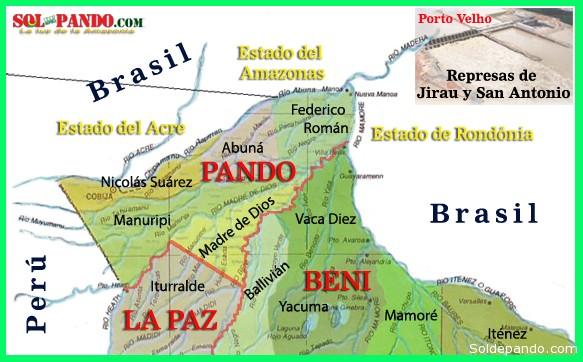 Mapa Rios Pando Beni NLP