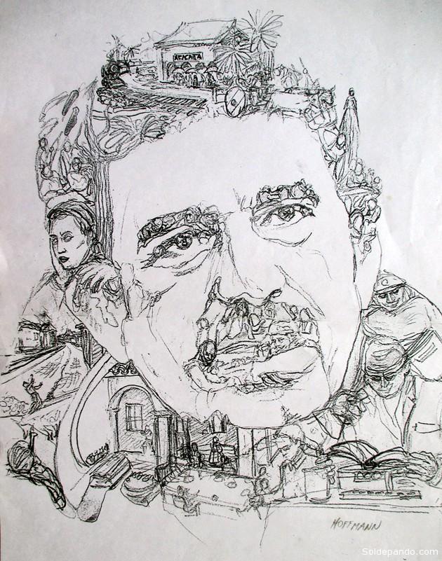 GABO SEGÚN EL ARTISTA PLÁSTICO BOLIVIANO HANS HOFFMAN BARRIENTOS Clic sobre la foto para ampliar la imagen