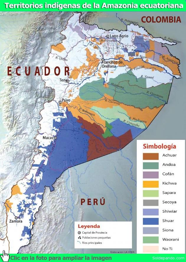 Mapa Indigenas Ecuador