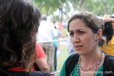 """Rosilene Wanseto: """"Lo importante es que haya manifestaciones y que éstas puedan mostrar los problemas que vivimos desde antes del Mundial y que permanecerán después de la Copa"""".   Foto Adital"""