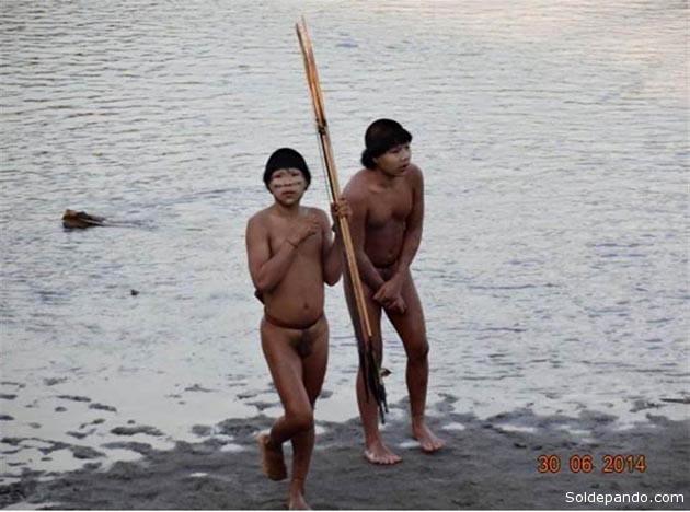 El primer contacto de la Funai con este grupo aislado fue realizado el pasado 30 de junio según el registro fotográfico.