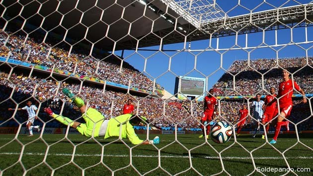 El gol de Ángel di María que salvó el honor argentino ante la presición suiza que apuntaba a definir el partido por penales | Foto Guetty Images