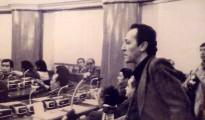 El diputado socialista Marcelo Quiroga Santa Cruz, en 1979, impulsando desde el Parlamento el juicio de responsabilidades contra la dictadura de Banzer. La respuesta a esa demanda ética fue el golpe de García Meza y Arce Gómez que contempló su asesinato. | Foto Archivo.