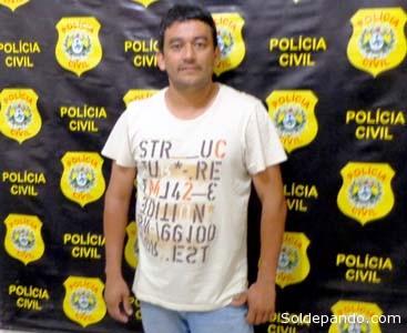 Gary Gonzáles Gioy, el socio prófugo de Magalhães, en manos de la Policia Civil del Estado de Acre. | Foto cortesía Policía Federal