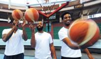 Los norteamericanos Khalil Hartwell, Hilton Westley y Lewis Leonard en Bolmar de La Paz | Foto La Razón