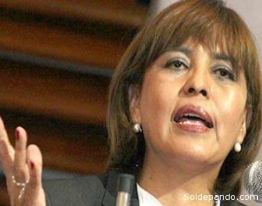 Nardy Suxo, la Ministra de Transparencia, es frenda desde el Ministerio de la Presidencia. | Foto Archivo