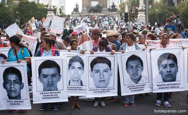 Se masifican las movilizaciones en México exigiendo el esclarecimiento y sentencias penales para los responasables de la insólita masacre de estudiantes de la normal de Ayotzinapa, en el municipio de Iguala, Estado de Guerrero. | Foto Archivo