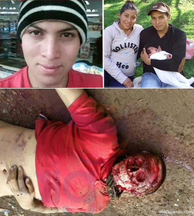 Julio César tenía 22 años, se acababa de casar, tenía una bebé de dos meses con la que vivió apenas 15 días, soñaba ser profesor y murió bajo una crueldad inconcebible un mes después de ingresar a la Normal de Ayotzinapa.   Fotomontaje Sol de Pando