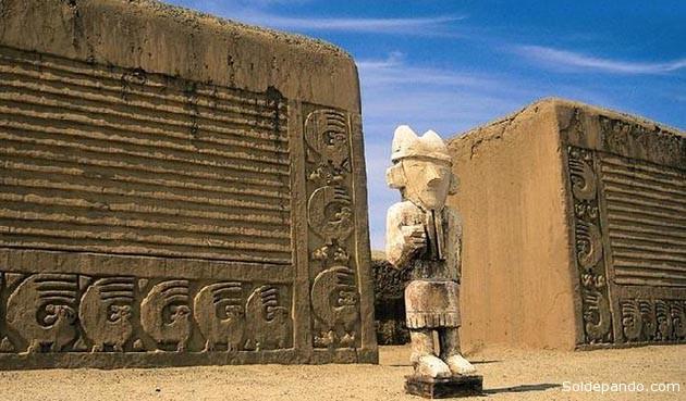 Chan Chan, la más grande ciudadela de barro de América prehispánica. Declarada patrimonio cultural de la humanidad por la Unesco en 1986. Chan Chan habría sido la capital del reino Chimú. Los arqueólogos estiman que albergó a más de 100 mil personas.En su estructura se distinguen plazas, viviendas, depósitos, talleres, calles, murallas y templos piramidales que serán protegidos por el nuevo sistema digital.   Foto Archivo