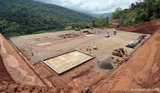 Vista panorámica del área despejada para la instalaciòn de los pozos de perforación en Lliquimuni, octubre pasado. | Foto ABI