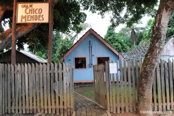 La casa de Chico Mendez en Xapuri, en cuyo umbral fue asesinado frente a sus hijos. Es hoy un museo histórico conservado por el gobierno del Estado de Acre.