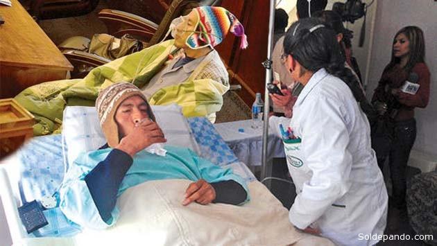 El magistrado indígena padece un cuadro crónico de tuberculosos. Ya fue intervenido quirúrgicamente en marzo del 2013. Pese a ello debe comparecer a un juicio iniciado por el Senado buscando su destituciòn. | Fotomontaje Sol de Pando