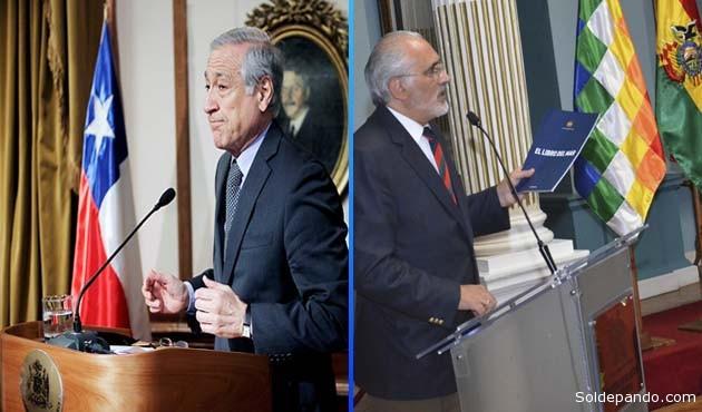 """Según Muñoz """"llama poderosamente la atención"""" a los gobernantes chilenos el """"lobby"""" boliviano.  Sin embargo Mesa recordó que Chile lleva adelante una campaña similar en el contexto internacional.   Fotomontaje Sol de Pando"""