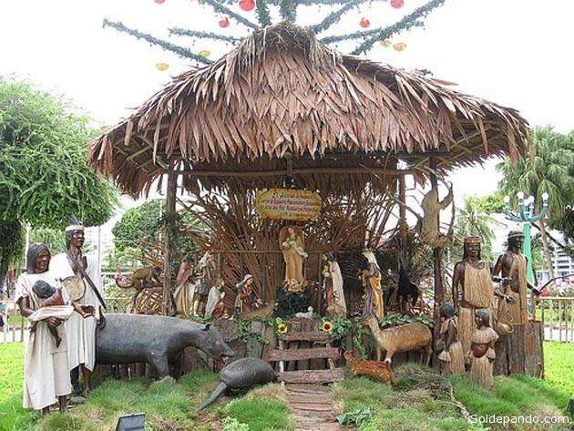 Nacimiento armado en Iquitos, ciudad amazónica del Perú, el año 2011. | Foto Paco Bardales