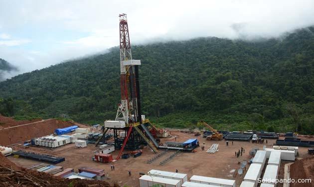 El presidente Evo Morales inauguró la perforación del pozo Lliquimuni Centro X1, en la región amazónica del departamento de La Paz. | Foto ABI