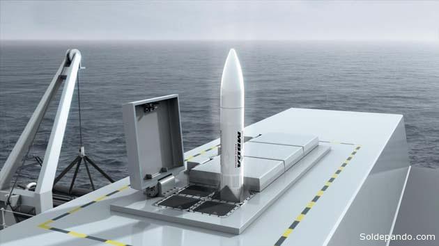 o Sea Ceptor demanda um menor peso global a bordo, oferecendo assim maior flexibilidade para o usuário na escolha da posição de instalação da arma. | Foto Infodefensa