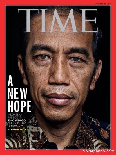"""El presidente Widodo se niega a conmutar la pena de muerte a narcotraficantes porque ellos, dice, """"arruinaron la vida de muchos seres humanos"""".   Foto Time Magazine"""