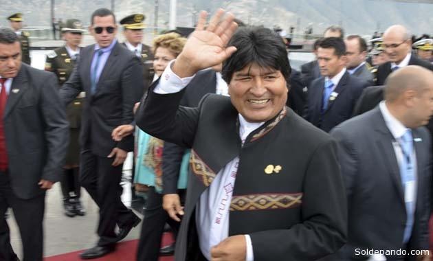 El presidente Morales durante el encuentro presidencial de la Unasur, en Quito, Ecuador, el pasado 5 de diciembre. | Foto ABI