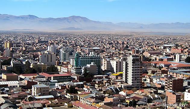 La ciudad de Oruro, capital de un departamento que recupera su pujanza agrícola y minera. | Foto Archivo