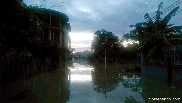 Amanecer del 24 de febrero en Cobija, inundada y sin luz a orillas del río Acre. | Foto cortesía Karin Miyashiro Bernardo (カリン宮城)