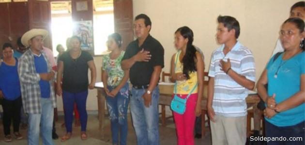 Momento de la posesión de los asambleístas indígenas que legislarán en Pando durante los próximos cinco años. | Foto ANA