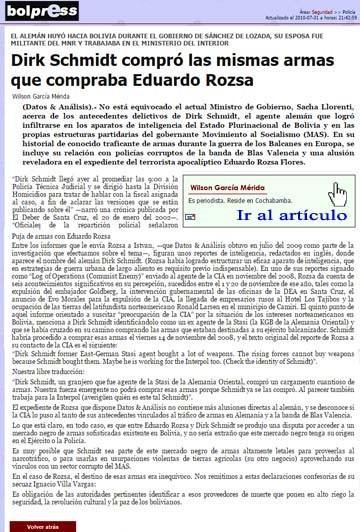 El informe de Datos & Análisis publicado el 31 de julio del 2010.