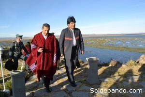 Una de las tareas de ambos países será la limpieza del lago Titicaca.   Foto: ABI