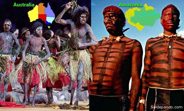 se afirma que las poblaciones provenientes de Australia se mezclaron con aquellos que llegaron desde el estrecho de Bering 2.000 años antes, hasta poblar la Amazonia. | Fotomontaje Sol de Pando