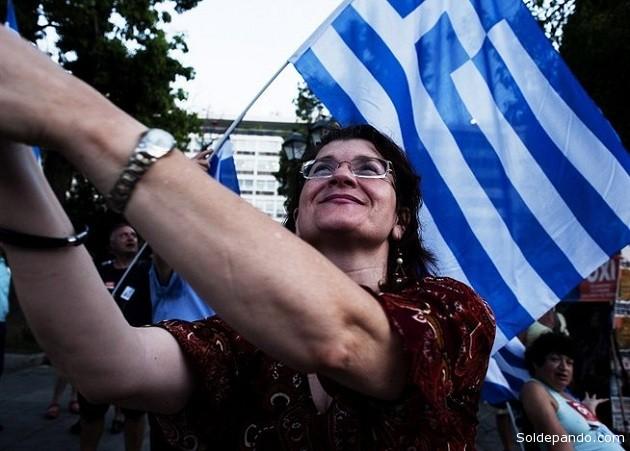 """Grecia dice """"No"""" a sus acreedores en un histórico referendum.  Foto: AFP"""