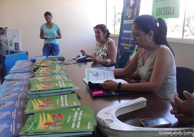 La Semana de la Lectura fortalece el Programa de Post Alfabetización en Pando. | Foto Prensa GADP