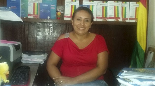 la responsable en Pando del Programa de Post Alfabetización del Ministerio de Educación, Ximena Gómez López.   Foto Wlsson Asturizaga