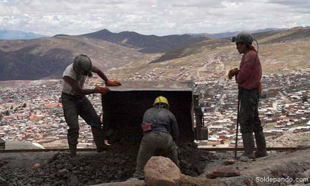 Refelejando la realidad minera nacional, la producción del zinc es el principal rubro en la mineria de Potosí.   Foto Diego Casas