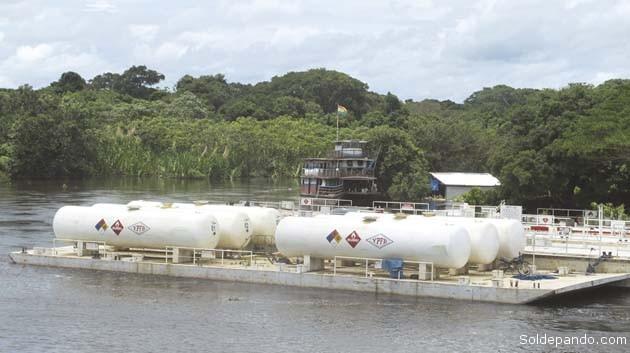 El abastecimiento de GLP al departamento del Beni comienza con el envío de cisternas desde la Planta de Separación de Líquidos Río Grande, ubicada en Santa Cruz hacia Trinidad, planta que también opera como terminal de carga para las embarcaciones que se dirigen a Guayaramerín.