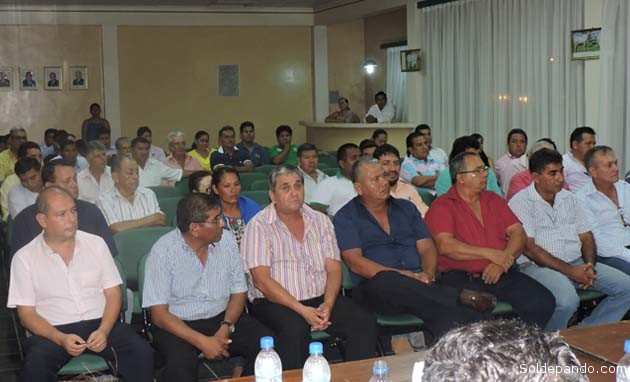 Los afiliados de Fegapando realizan sus actividades principalmente en los municipios de Cobija, Bella Flor y Porvenir de la provincia Nicolás Suárez   Foto Prensa GADP