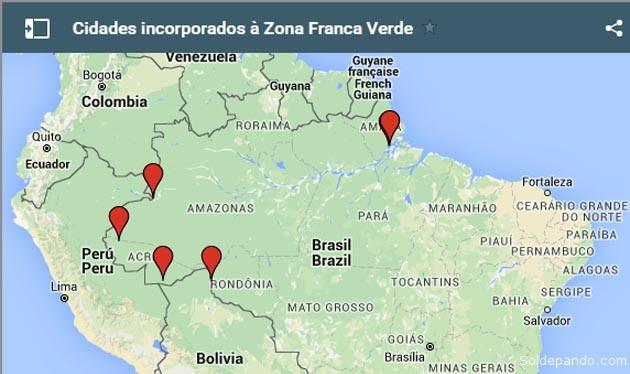 Mapa da Zona Franca Verde