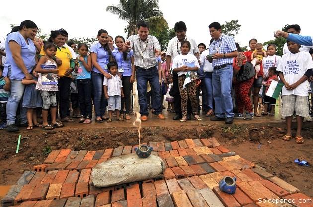 Inauguración de las obras en la comunidad Fortaleza del Orthon. | Foto Prensa GADP