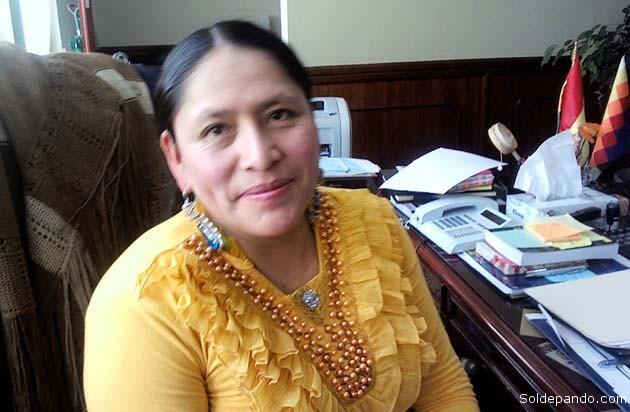 """UNA MINISTRA DESDE ABAJO Y PARA ABAJO La doctora Virginia Velazco Condori se integró al gabinete del presidente Evo Morales como Ministra de Justicia, el 23 de enero del pasado año 2015. Nació en la comunidad de Caicoma, municipio de Laja, capital de la provincia Los Andes del departamento de La Paz; radica en la ciudad de El Alto. Titulada como Licenciada en Derecho de la Universidad Salesiana de Bolivia (USB), se desempeñó como abogada en el ejercicio libre, incursionando en varios ámbitos de la profesión. Durante su trayectoria, la nueva autoridad tuvo relacionamiento con varias organizaciones sociales. En su desempeño sorprendió a la opinión pública al dejar su despacho durante el pasado mes de octubre para """"infiltrarse"""" como """"ciudadana encubierta"""" en varios juzgados del territorio nacional y dependencias del Ministerio Público, para realizar trámites de rutina, afán en el cual fue varias veces maltratada por jueces y fiscales que la confundieron como una """"chola cualquiera"""" sin saber que era la Ministra de Justicia. Aquellos ingeniosos y valientes """"operativos sorpresa"""" le permitieron constatar """"in situ"""" el grado de corrupción e ineficiencia que prevalece en algunos niveles medios del sistema judicial, identificando personalmente a malos funcionarios en juzgados de Quillacollo, Montero, Yacuiba y otras ciudades principales e intermedias del país. En una entrevista publicada por La Razón, la ministra Velazco Condori declaró haber sentido """"un profundo dolor, como autoridad y como mujer"""", al experimentar el maltrato que reciben los ciudadanos comunes en tales reparticiones del Poder Judicial. """"Imagínese, si a mí me han tratado de esa forma, pienso que el pueblo boliviano sufre más"""", dijo. """"No porque se es de poncho o pollera se va a discriminar. La Constitución establece que estamos en democracia y no es posible que se discrimine. Todos merecemos respeto ante la ley"""", declaró en otra entrevista publicada por El Deber. Fue declarada """"Hija Predilecta"""" del municipio de"""