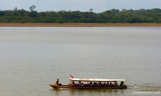 El río Ucayali en la estación de Requena tuvo un leve descenso de 12 centímetros en los últimos días. | Foto Andina