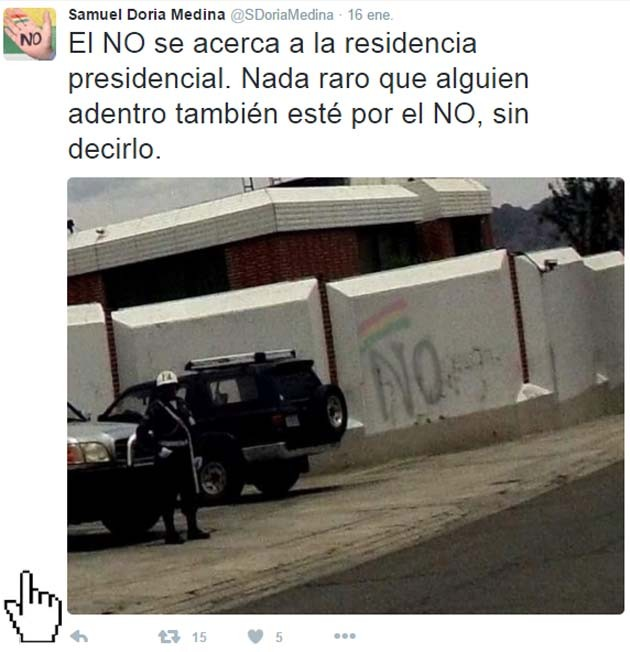 Tuit muro residencia presidencial